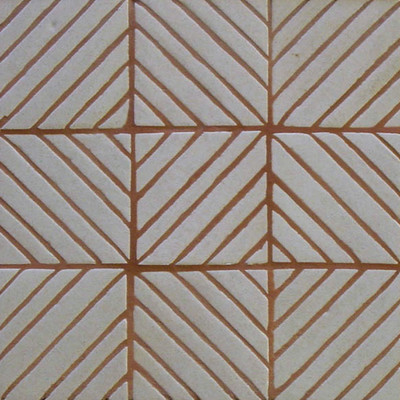 "Decorative tile ""Vertical Diagonal"" - 10x10cm - Glazed in crystalline white."