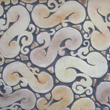 "Decorative tile ""Hiedra"" - 30cm x infinity - Glazed in matt ocre, browns and cream."