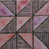 "Decorative tile ""Nadezhda"" - 10x10cm - Glazed in crystalline purple tones."