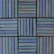 "Decorative tile ""Tacos Vertical"" - 10x10cm - Glazed in matt blue tones."