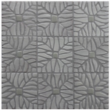 "Decorative tile ""Tacos selva"" - 10x10cm - Glazed in satin and crystalline white."