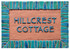 House sign made from ceramic  - hand painted sign - house name - hill crest cottage