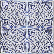 decorative tile moroc #2 - blue & white                                     [15cm]