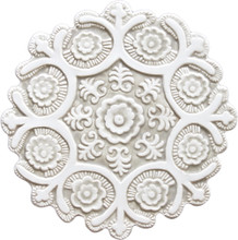 suzani ceramic wall art #1/R - beige [27.5cm]