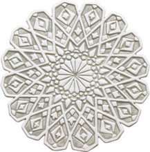moroccan ceramic wall art #4/R/beige [28cm]