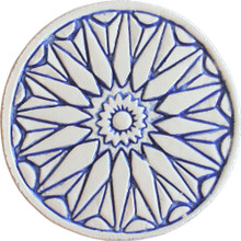 moroccan wall art #1 - blue [15cm]