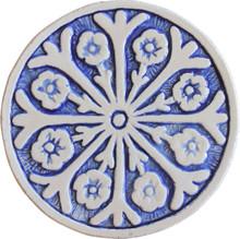 suzani circular wall art #2 - blue [15cm]