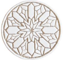 moroccan wall art #2 - beige [15cm]