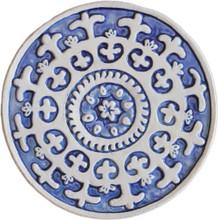 suzani wall art - blue [21cm]