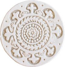 suzani circular wall art #1 beige [15cm]