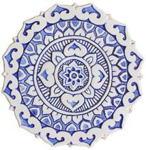 Mandalita ceramic wall art deco/R - blue           [28cm]