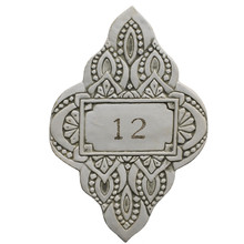 House number - taupe