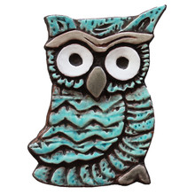 Owlet wall art - small jade (18x13cm)