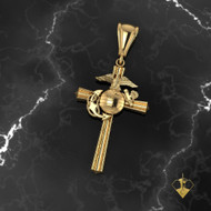 "USMC 1"" Marine Corps Cross    ""Made by Marines for Marines"" available in Sterling Silver, 10k, 14k and 18k White or Yellow gold.  100% Satisfaction Guaranteed"