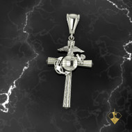 "USMC Sterling Silver 1"" Marine Corps Cross MC2S_1   ""Made by Marines for Marines"" available in Sterling Silver, 10k, 14k and 18k White or Yellow gold.  100% Satisfaction Guaranteed"