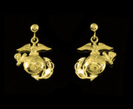 USMC 18k Gold Earrings