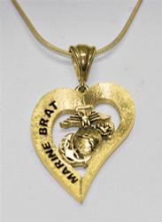 Marine Brat 10k Gold Heart Pendant