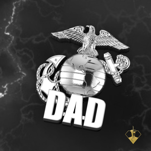Marine Dad Lapel Pin