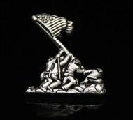 USMC Sterling Silver Iwo Jima Pendant