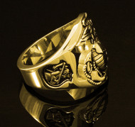 USMC 140k Gold The Walking Dead Ring