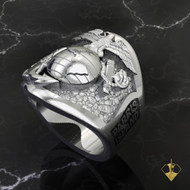 "Parris Island Graduation Ring   ""Made by Marines for Marines"" available in Sterling Silver, 10k, 14k and 18k White or Yellow gold.   100% Satisfaction Guaranteed"