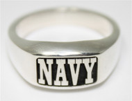 US Navy Solid Sterling Silver Rugged Ring