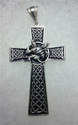 USN Seabees Celtic Silver Cross