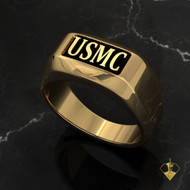 """USMC Rugged Marine Ring    """"Made by Marines for Marines"""" available in Sterling Silver, 10k, 14k and 18k White or Yellow gold.   100% Satisfaction Guaranteed"""