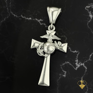 USMC Cross MC18S Solid Sterling Silver