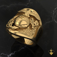 "USMC Parris Island Graduation Ring   ""Made by Marines for Marines"" available  in Silver, 10k, 14k and 18k White or Yellow gold.   100% Satisfaction Guaranteed"