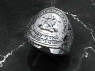 "2nd Battalion 4th Marines ""Magnificent Bastards""  Solid Sterling Silver Ring"