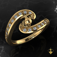 "Swirling Diamonds with EGA  Woman Marines Ring available is Sterling, 10k, 14k and 18k Gold ""Made by Marines for Marines""  100% Satisfaction Guaranteed"