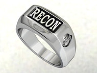 USMC Recon Ring with Combat Diver & Rank