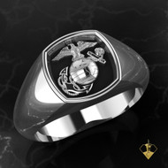 EGA Signet Woman Marines Ring