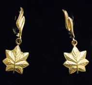 Beautiful 14k Yellow Gold Lever Back Major Earrings