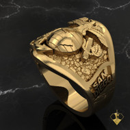 San Diego Graduation Ring 10k Yellow Gold Made in USA by Marines for Marines