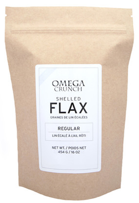 Regular Shelled Flax Raw 454g.