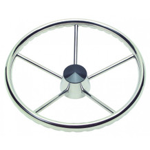 "15 1/2"" Fifthteen And A Half Inch 5 Spoke Destroyer Steering Wheel With Black Center Cap 1721517 - 1"" One Inch Straight Shaft - 3/8"" Three Eighth Inch Spoke Size - 10 Ten Degree Of Dish"
