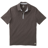 MENS STILLWATER ROOTS73 SS POLO BLACK SMOKE/SILVER