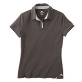 WOMENS STILLWATER ROOTS73 SS POLO BLACK SMOKE / SILVER