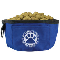 Blue - Travel Dog Bowl - Collapsible Food & Water Bowl Promos - Fold&Go