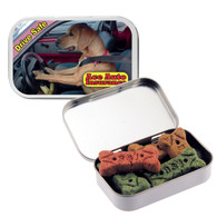 Dog Treats with Full Color Label Promotional Tin - White