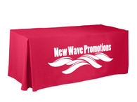 Economy Trade Show Table Covers - One Color Print - 4' Fitted Style