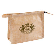 Travel Toiletry Bags, Natural Jute - Custom Imprint