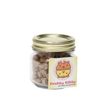 Cat Treats in Half Pint Jar with Square Custom Refrigerator Magnet