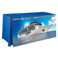 Printed Counter Height Trade Show Table Covers - Polyester