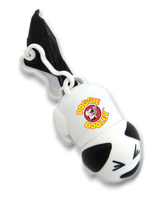 Custom Printed Dog Shaped Dog Poop Bag Dispensers, Full Color