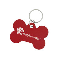 Aluminum Dog ID Tags with Custom Imprint - Bone Shape