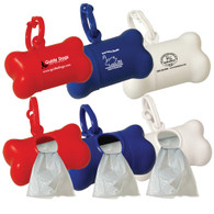 Bone Shaped Pet Waste Bag Dispenser, Custom Printed