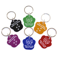 Paw Key Chain with Custom Imprint